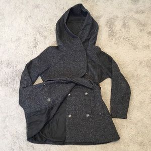 Cotton On Peacoat sz Small Charcoal Grey Like New